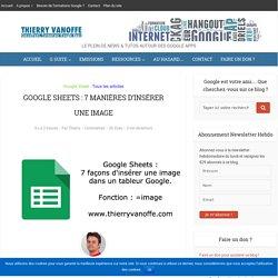 Google Sheets : 7 manières d'insérer une image