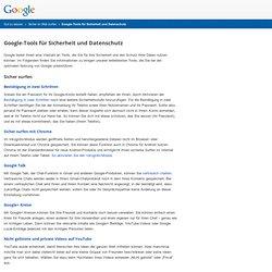 Sicherheitstools von Google – Gut zu wissen – Google