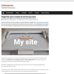 Google Sites pour la création de site fait peau neuve