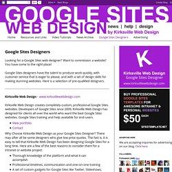 Google Sites Designers