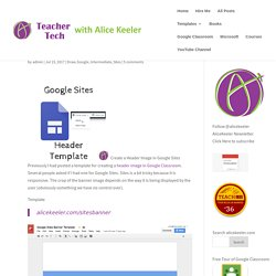 Google Sites Header Image Template