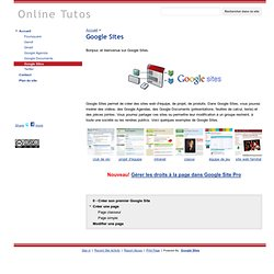 Sites - Online Tutos