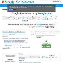 Google Sites How-tos