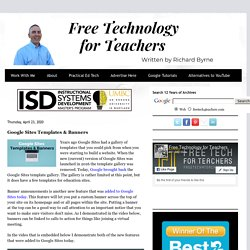 Google Sites Templates & Banners