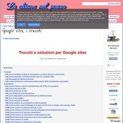 Google sites, i trucchi - La chiave nel pozzo