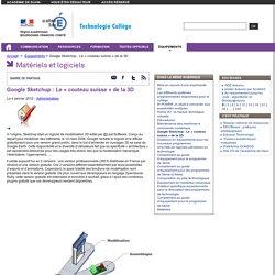 Google Sketchup : Le « couteau suisse » de la 3D