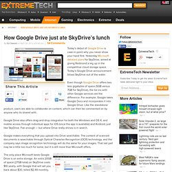 How Google Drive just ate SkyDrive's lunch