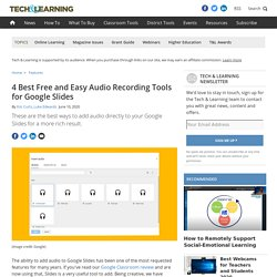 4 Best Free and Easy Audio Recording Tools for Google Slides