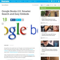Google Books 2.0: Smarter Search and Easy Embeds