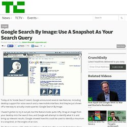 Google Search By Image: Use A Snapshot As Your Search Query