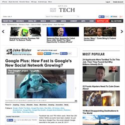 Google Plus: How Fast Is Google's New Social Network Growing?