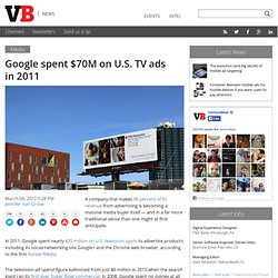 Google spent $70M on U.S. TV ads in 2011