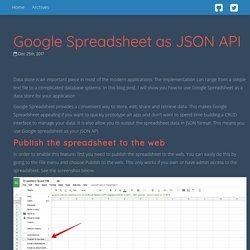 Google Spreadsheet as JSON API - Blog Rudy Lee