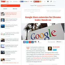 Google Stars Extension for Chrome Leaks: Hands On