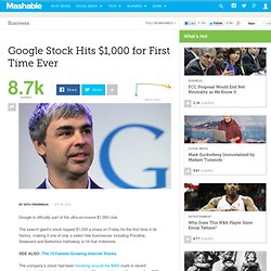 Google Stock Hits $1,000 for First Time Ever