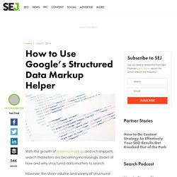 How to use Google's Structured Data Markup Helper