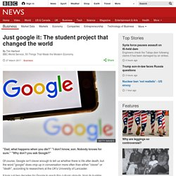 Just google it: The student project that changed the world