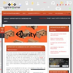 Google : support natif du Cardboard par Unity