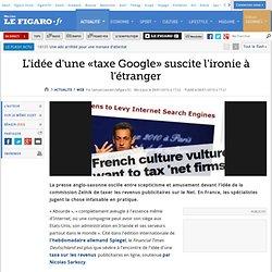 Web : L'idée d'une «taxe Google» suscite l'ironie à