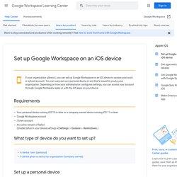 Configurer votre appareil mobile Apple pour GoogleSync : Agenda et Contacts Sync - Centre d'aide Google Mobile
