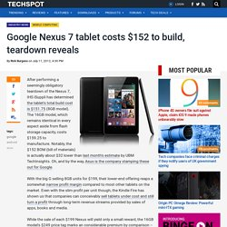 Google Nexus 7 tablet costs $152 to build, teardown reveals