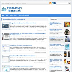 Google Docs | Technology Magazine News