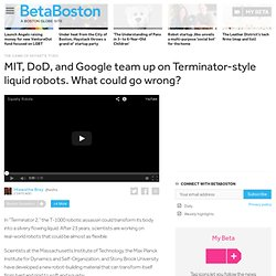 MIT, DoD, and Google team up on Terminator-style liquid robots. What could go wrong?