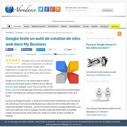 Google teste un outil de création de sites web dans My Business
