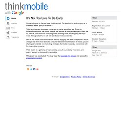 ThinkMobile 2011