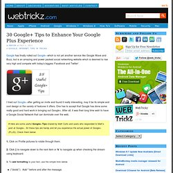 25 Google+ Tips to Enhance Your Google+