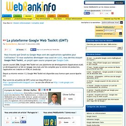 Google Web Toolkit, pour créer des applications en AJAX
