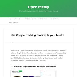 Use Google tracking tools with your feedly