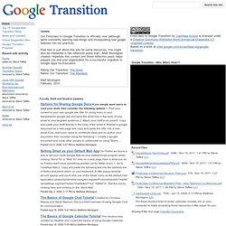 Google Transition