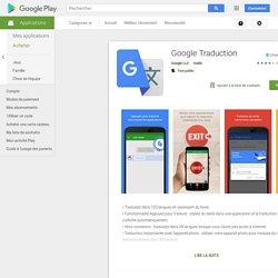 GoogleTraduction – Applications Android sur GooglePlay