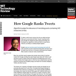 Google Ranks Tweets