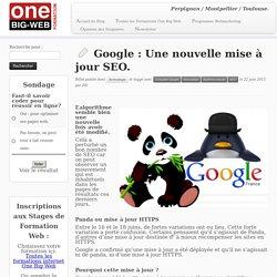 Google : Une nouvelle mise à jour SEO.