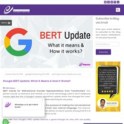 Google BERT Update: What it Means & How it Works?
