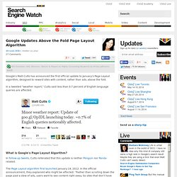 Google Updates Above the Fold Page Layout Algorithm