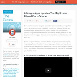 6 Google Apps Updates You Might Have Missed From October