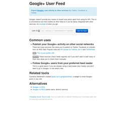 Google+ User Feed