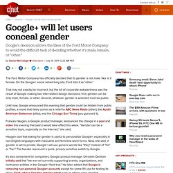 Google+ will let users conceal gender