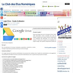 Google Drive : Guide d'utilisation