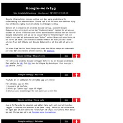 Google-verktyg