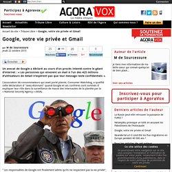 Google, votre vie privée et Gmail