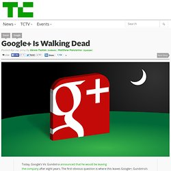 Google+ Is Walking Dead