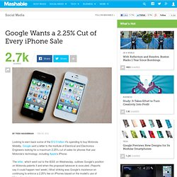 Google Wants a 2.25% Cut of Every iPhone Sale