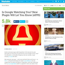 Is Google Watching You? New Plugin Will Let You Know [APPS]