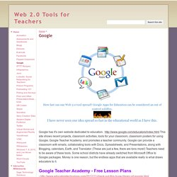 Google - Web 2.0 Tools for Teachers