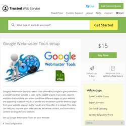 Google Webmaster Tools setup in $15 only