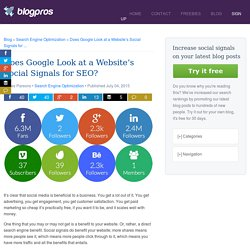 Does Google Look at a Website's Social Signals for SEO?